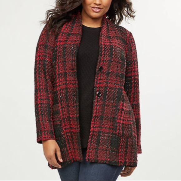 Lane Bryant Jackets & Blazers - Plaid Shimmer Jacket